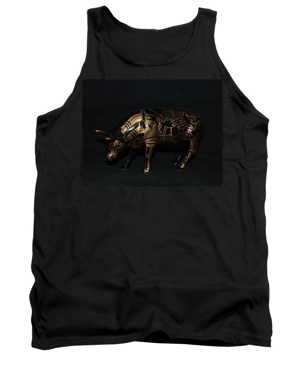 Tattoo Tank Top featuring the photograph The Tattooed Cow by Rob Hans