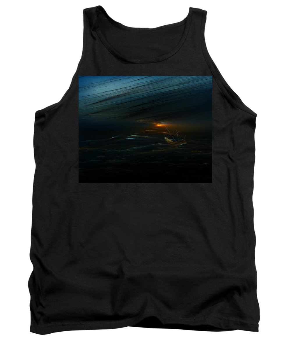 Digital Painting Tank Top featuring the digital art The Tempest Revisited by David Lane