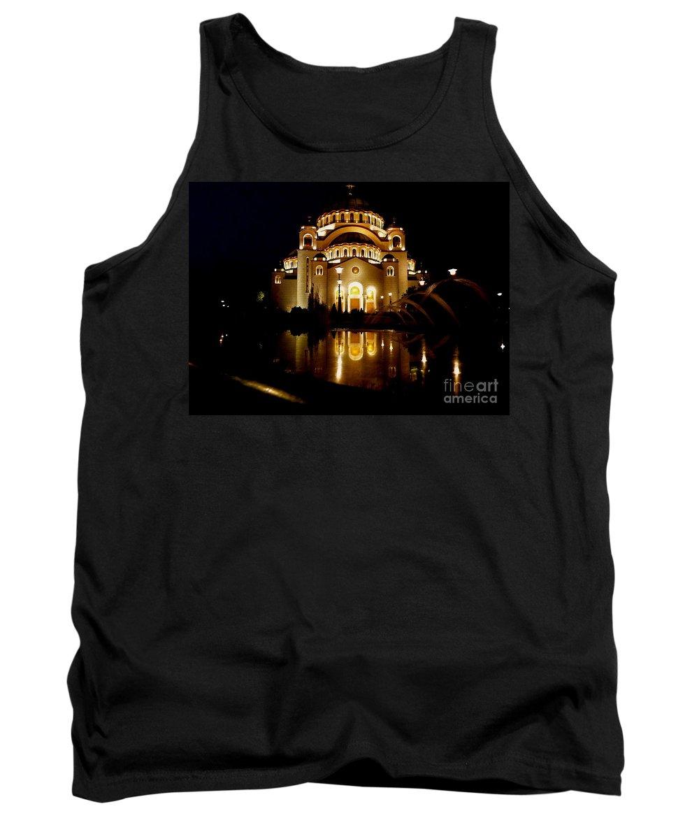Danica Radman Tank Top featuring the photograph The Temple Of Saint Sava In Belgrade by Danica Radman