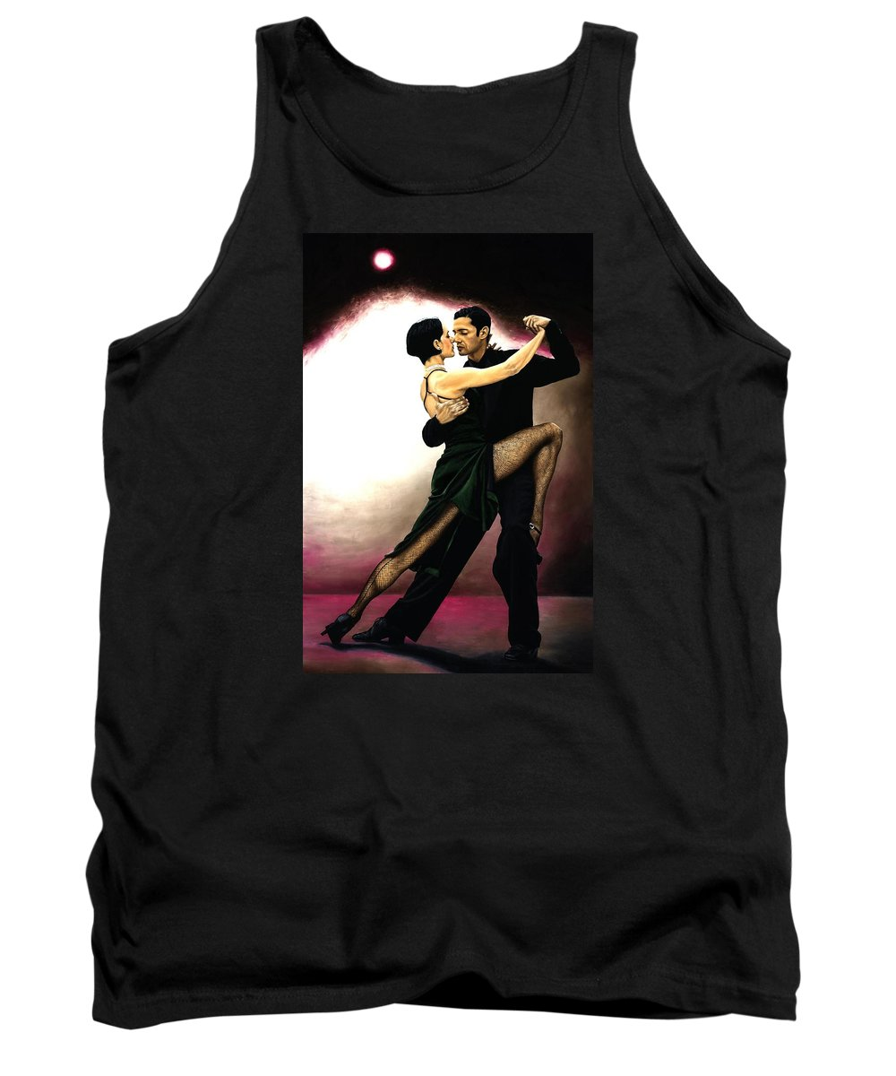 Tango Tank Top featuring the painting The Temptation Of Tango by Richard Young