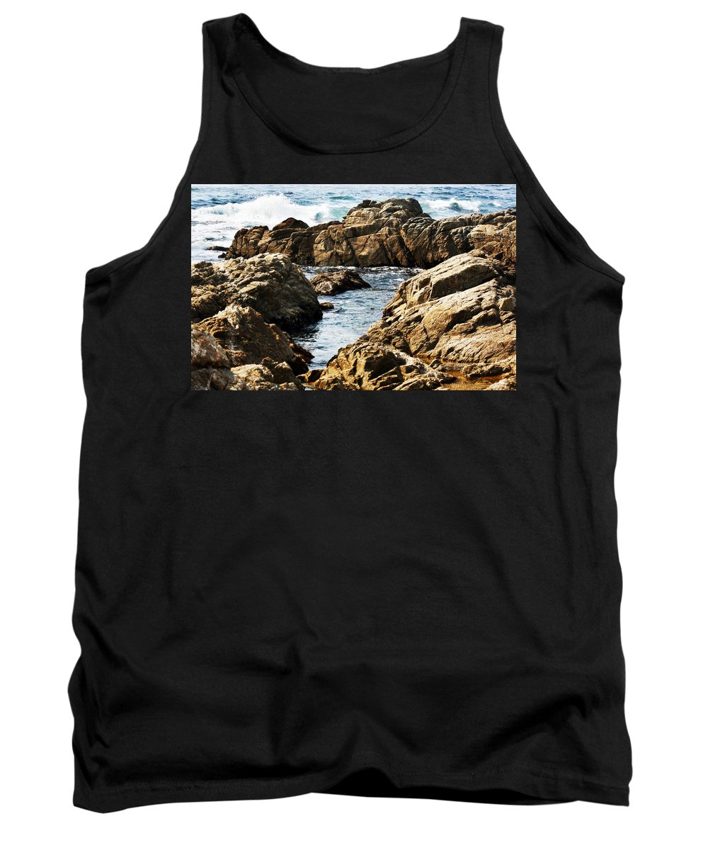 Tide Tank Top featuring the photograph The Tide Rushes In by Marilyn Hunt