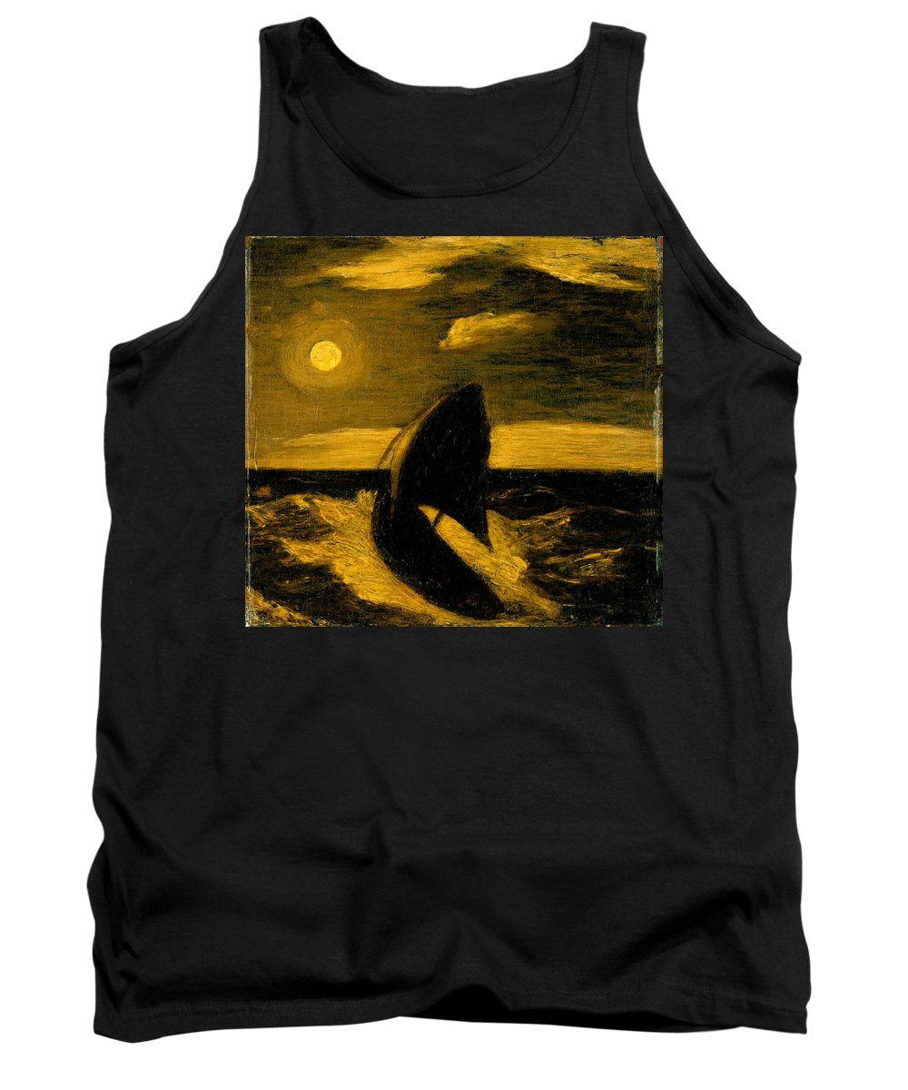 Albert Tank Top featuring the painting The Toilers Of The Sea by Albert Pinkham Ryder