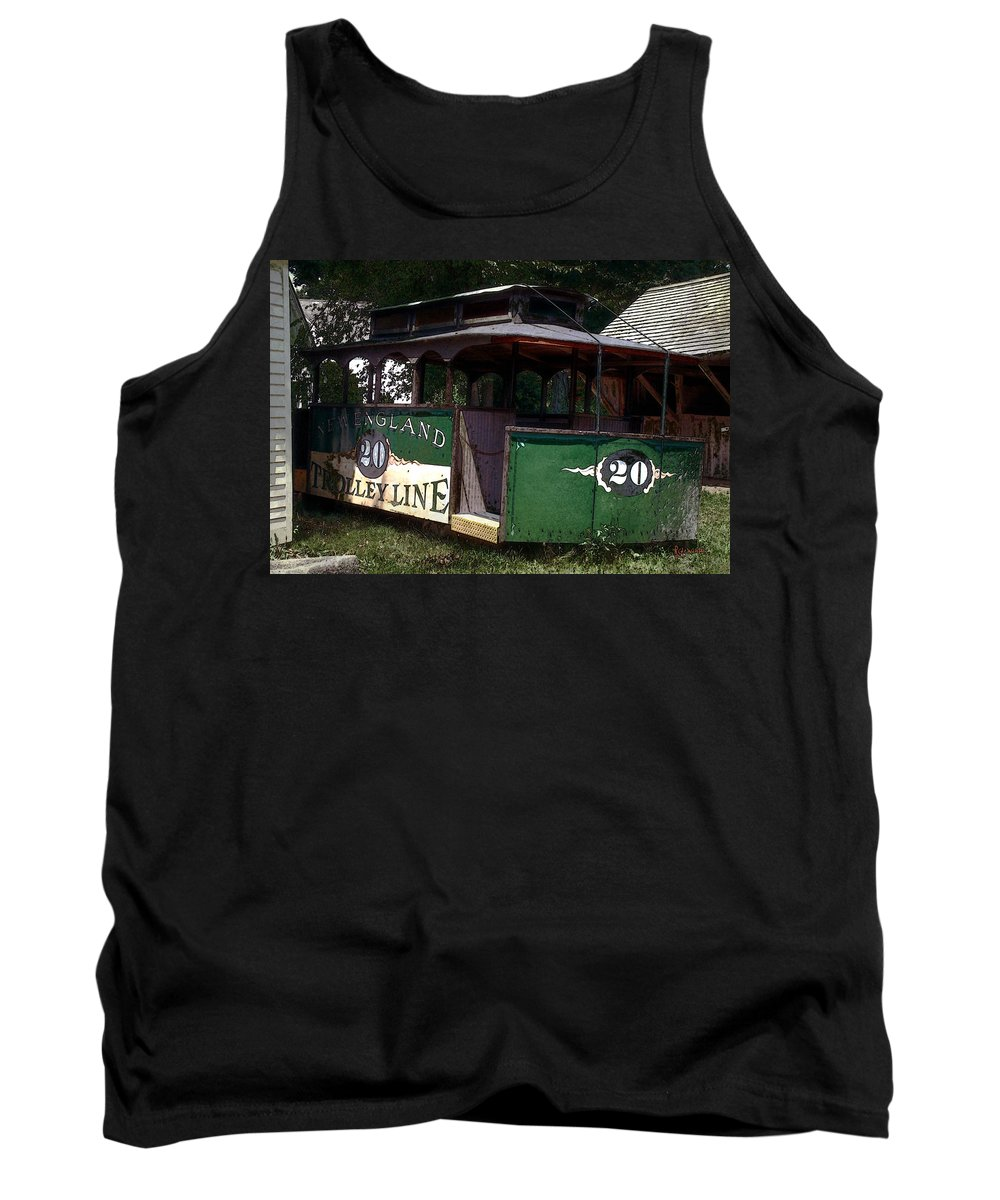Trolley Tank Top featuring the digital art The Trolley Out Back by RC DeWinter