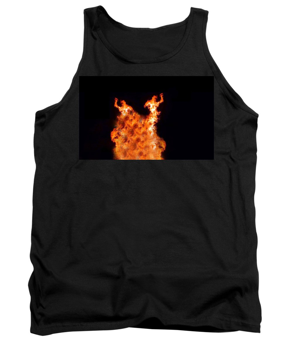 Fire Tank Top featuring the photograph The Twin by Munir Alawi