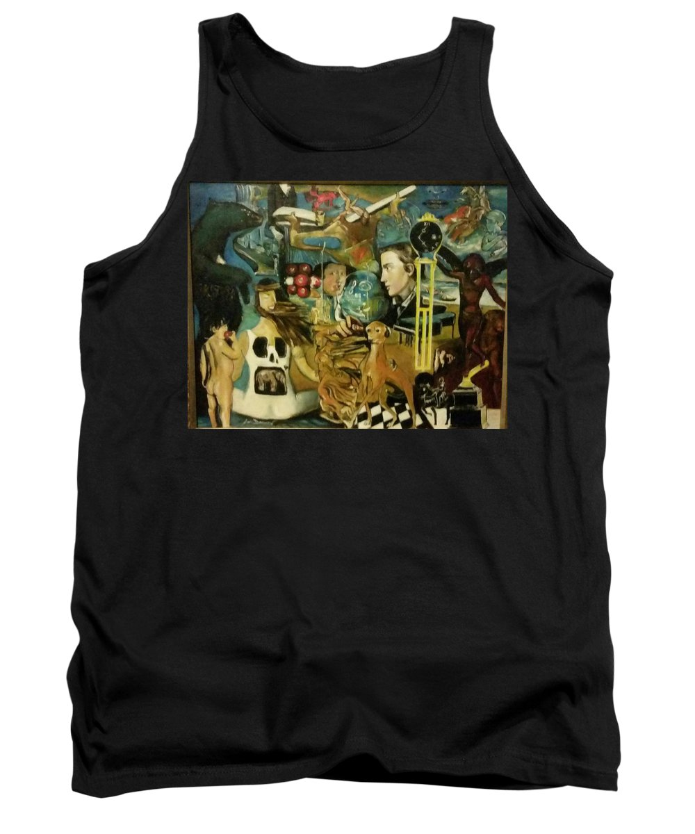 Surrealism Tank Top featuring the painting The Ubiquity Of Theotokos by Jude Darrien