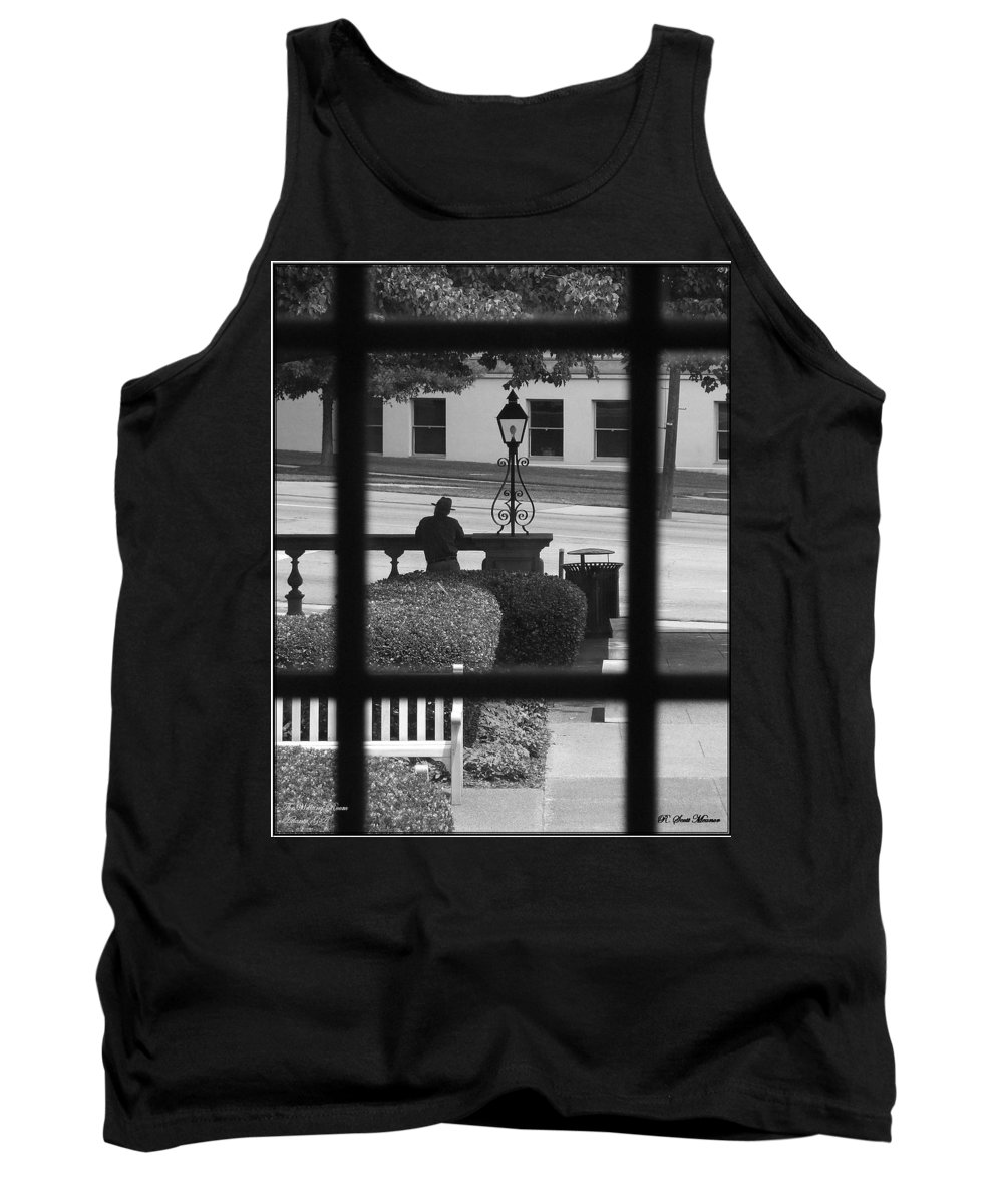 Black And White Tank Top featuring the photograph The Waiting Room by Robert Meanor
