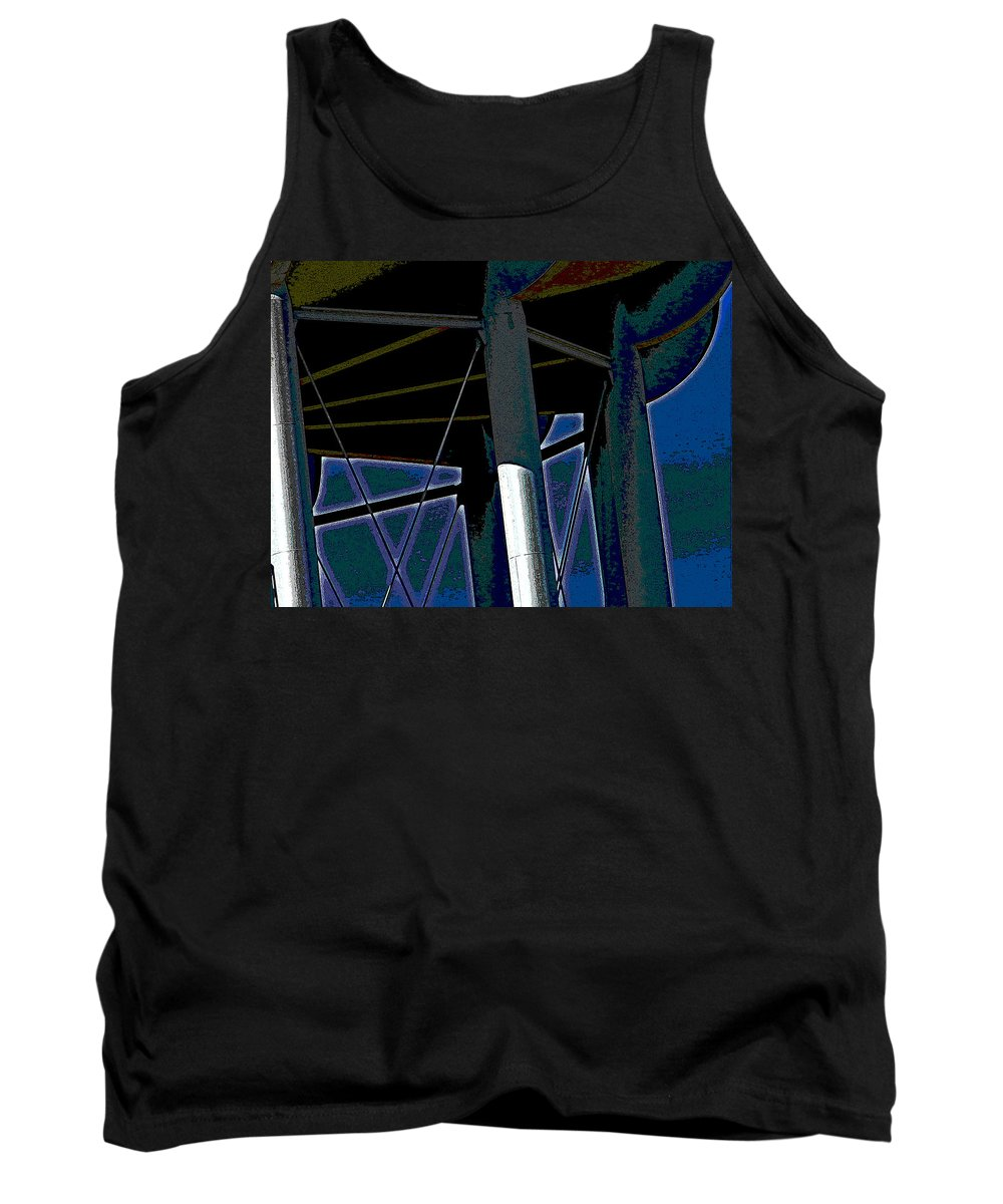 Abstract Tank Top featuring the digital art The Water Tower 2 by Lenore Senior