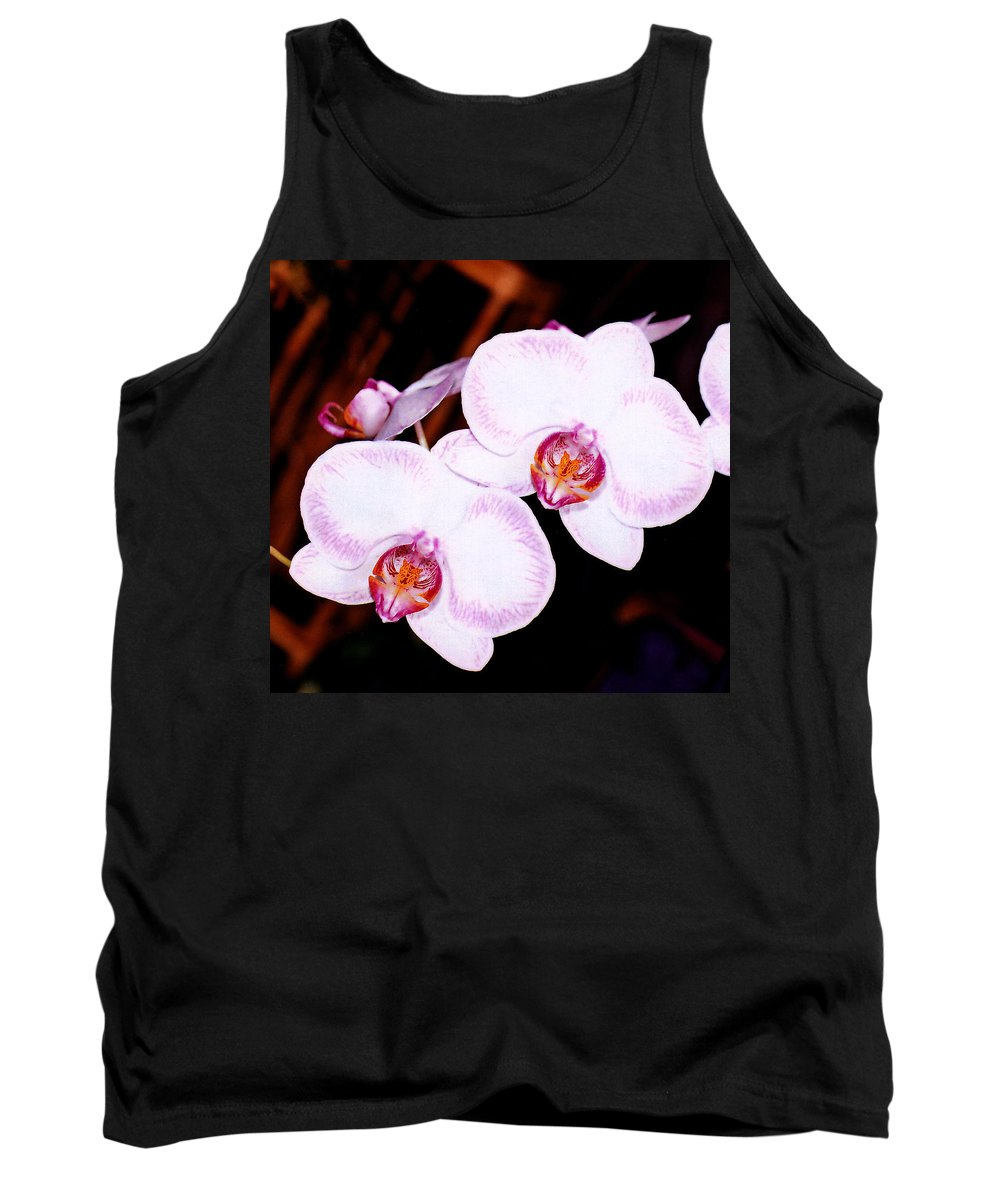 Nature Tank Top featuring the photograph The White Twins by Susanne Van Hulst