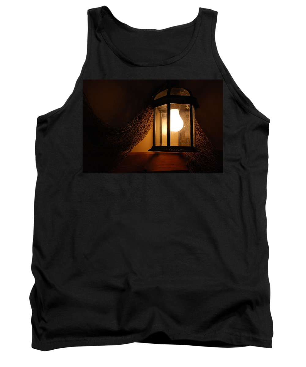 Lantern Tank Top featuring the photograph There Is Light In The Dark by Susanne Van Hulst