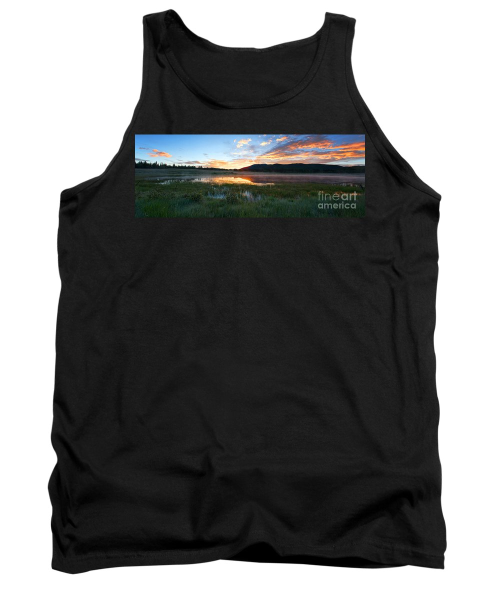 Mountain Sunrise Tank Top featuring the photograph There's A Song In The Air by Jim Garrison