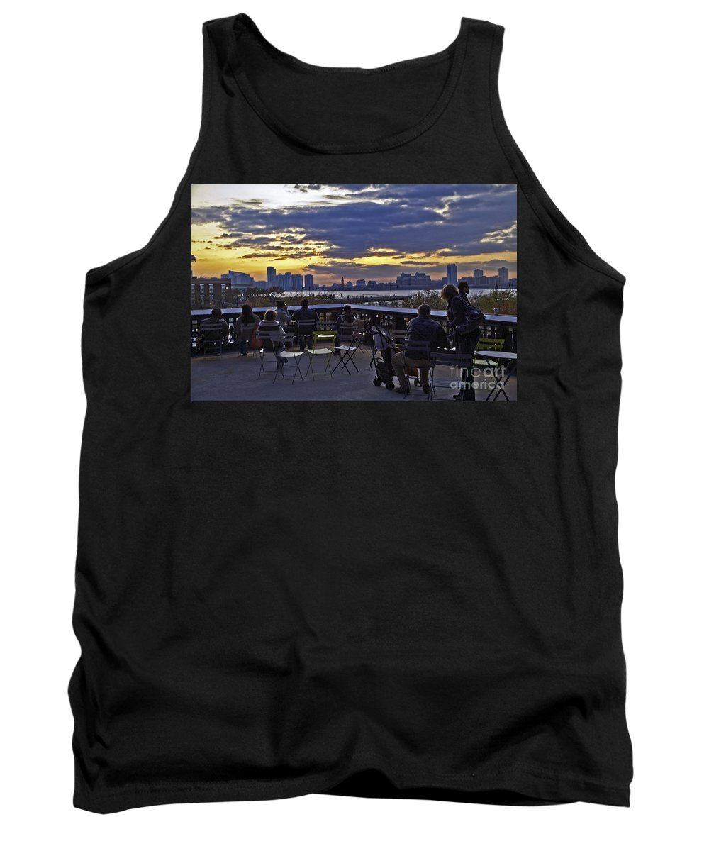 High Line Park Tank Top featuring the photograph They Came To Look by Madeline Ellis