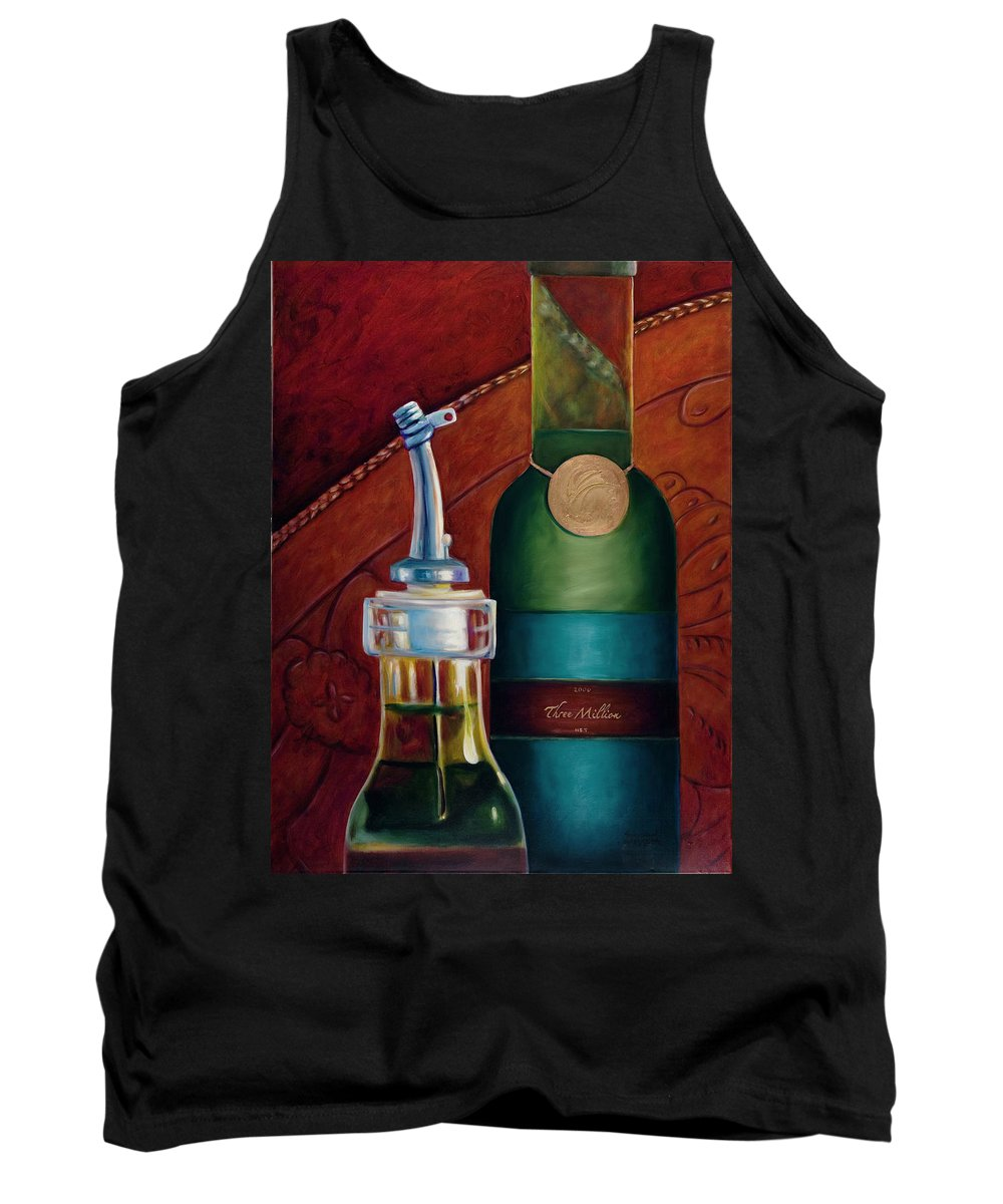 Olive Oil Tank Top featuring the painting Three Million Net by Shannon Grissom