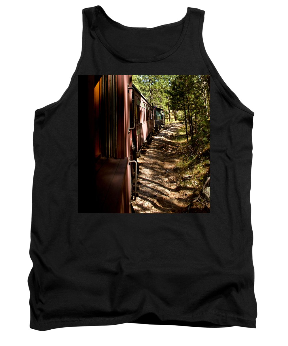 Mount Rushmore Tank Top featuring the photograph Threw The Woods by Mike Oistad