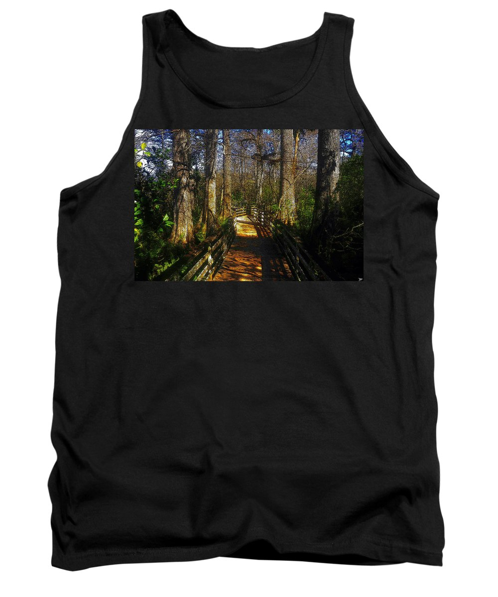 Art Tank Top featuring the painting Through The Swamp by David Lee Thompson