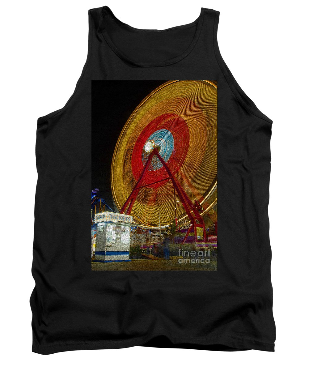 Amusement Ride Tank Top featuring the photograph Tickets by David Lee Thompson