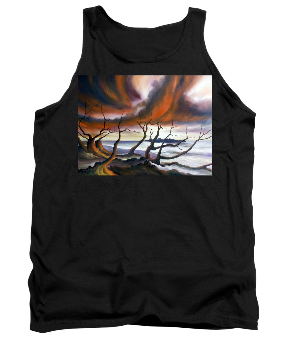 Marsh Tank Top featuring the painting Tideland by James Christopher Hill