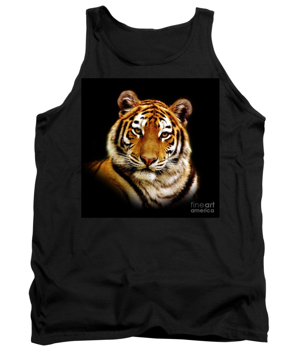 Wildlife Tank Top featuring the photograph Tiger by Jacky Gerritsen