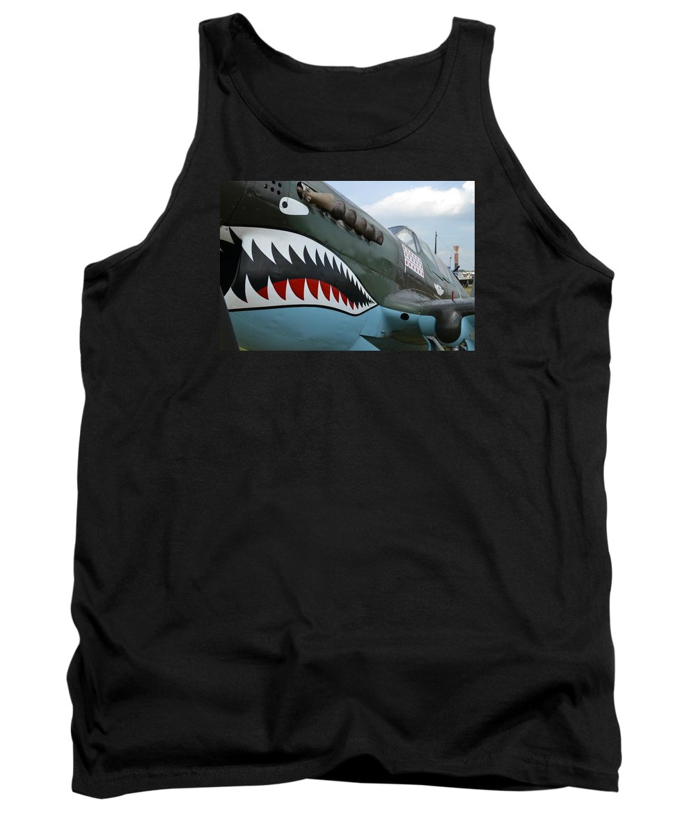 World War Ii Tank Top featuring the photograph Tiger Teeth by Lee Gray