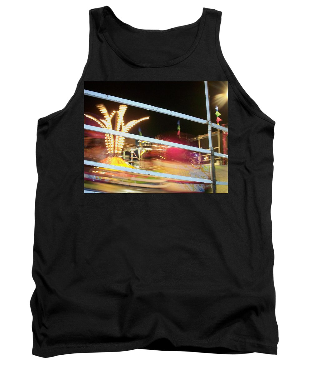 State Fair Tank Top featuring the photograph Tilt-a-whirl 2 by Anita Burgermeister