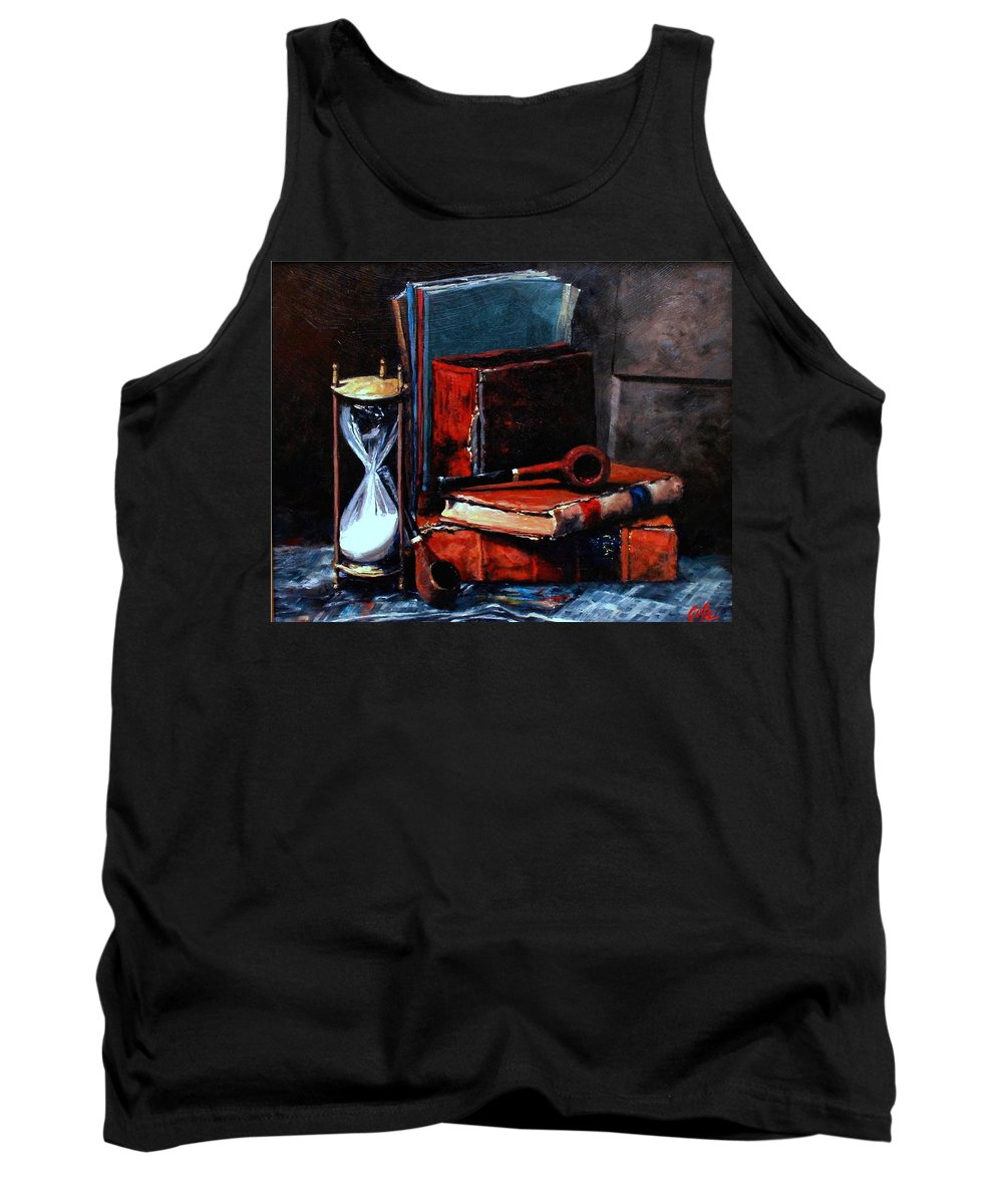 Still Life Painting Tank Top featuring the painting Time And Old Friends by Jim Gola