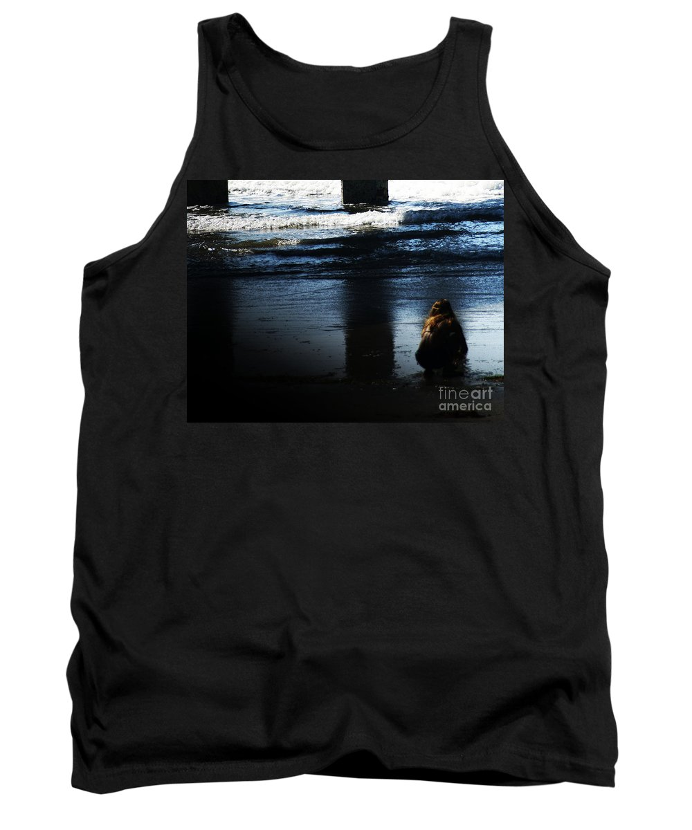 Pacific Tank Top featuring the photograph Time by Linda Shafer