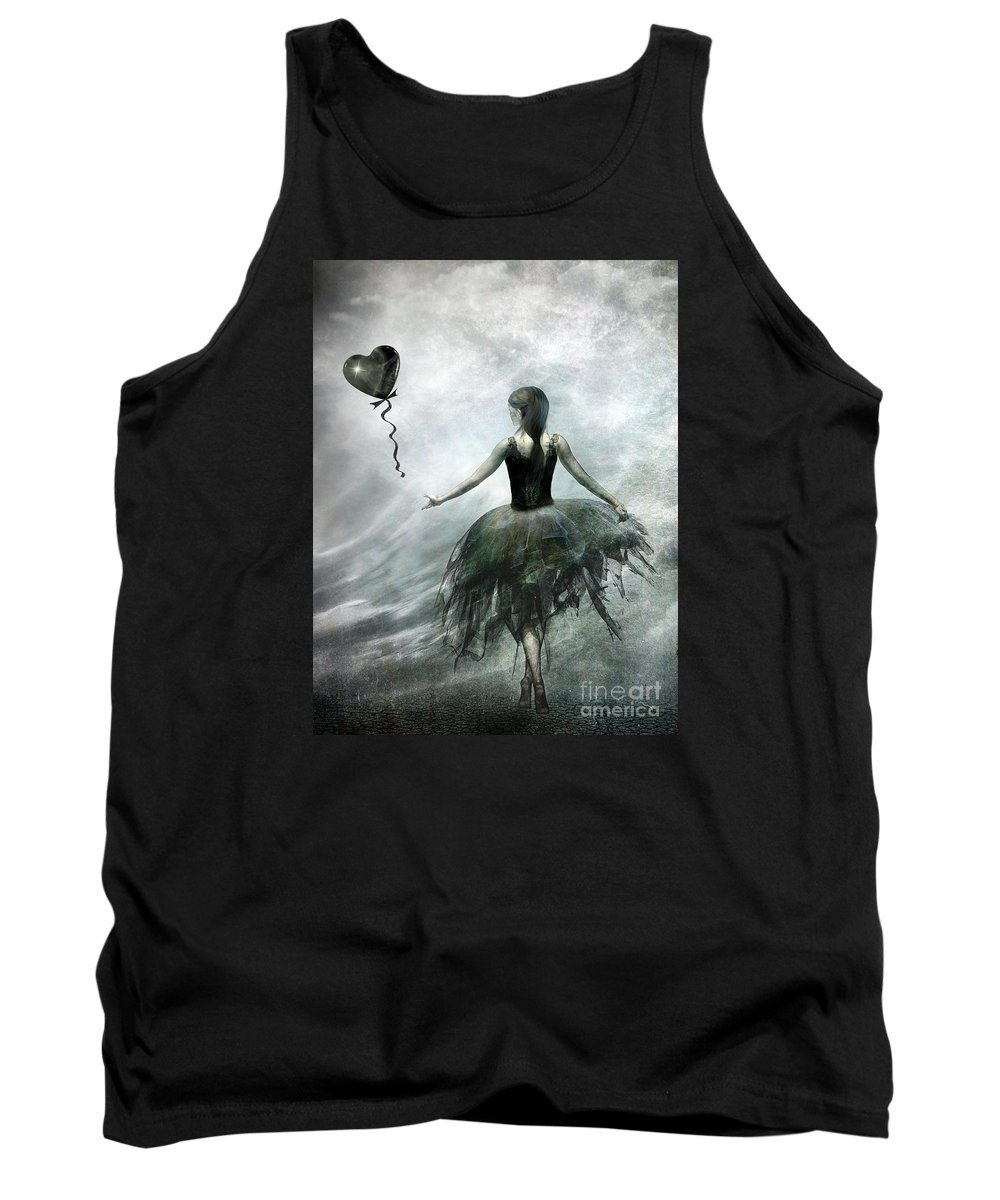 Ballet Tank Top featuring the painting Time To Let Go by Jacky Gerritsen