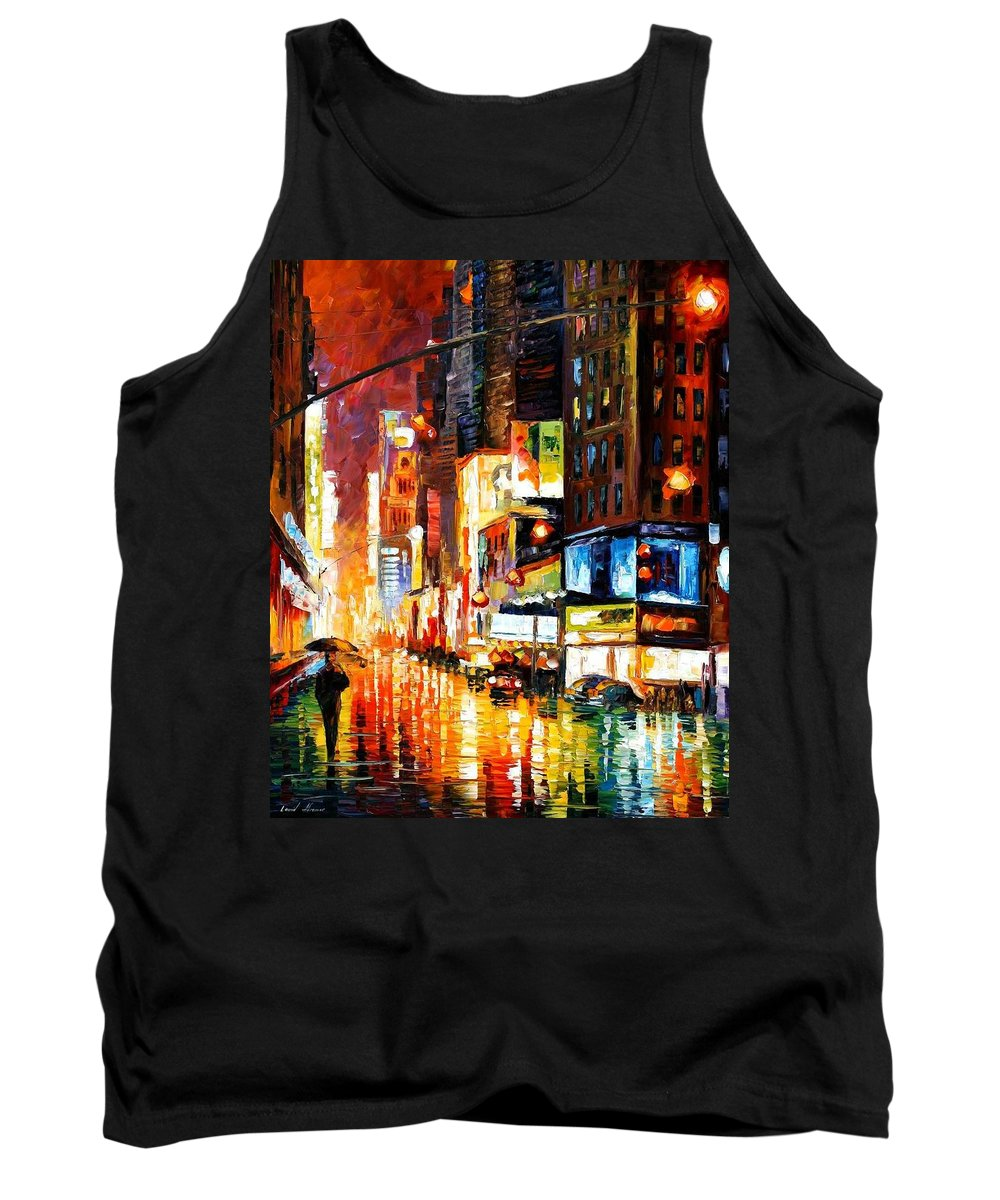 City Tank Top featuring the painting Times Square by Leonid Afremov