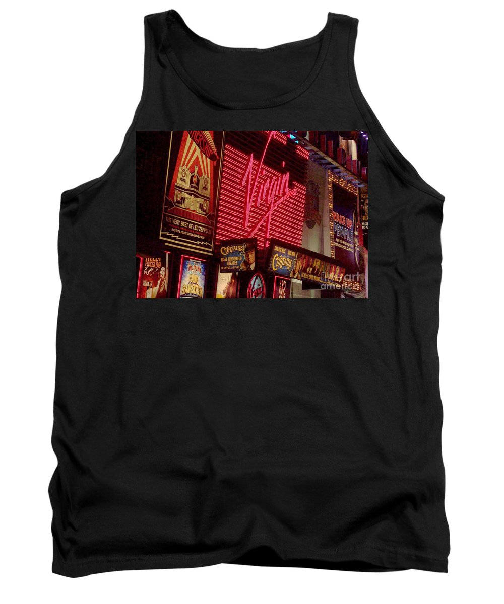 Times Square Tank Top featuring the photograph Times Square Night by Debbi Granruth