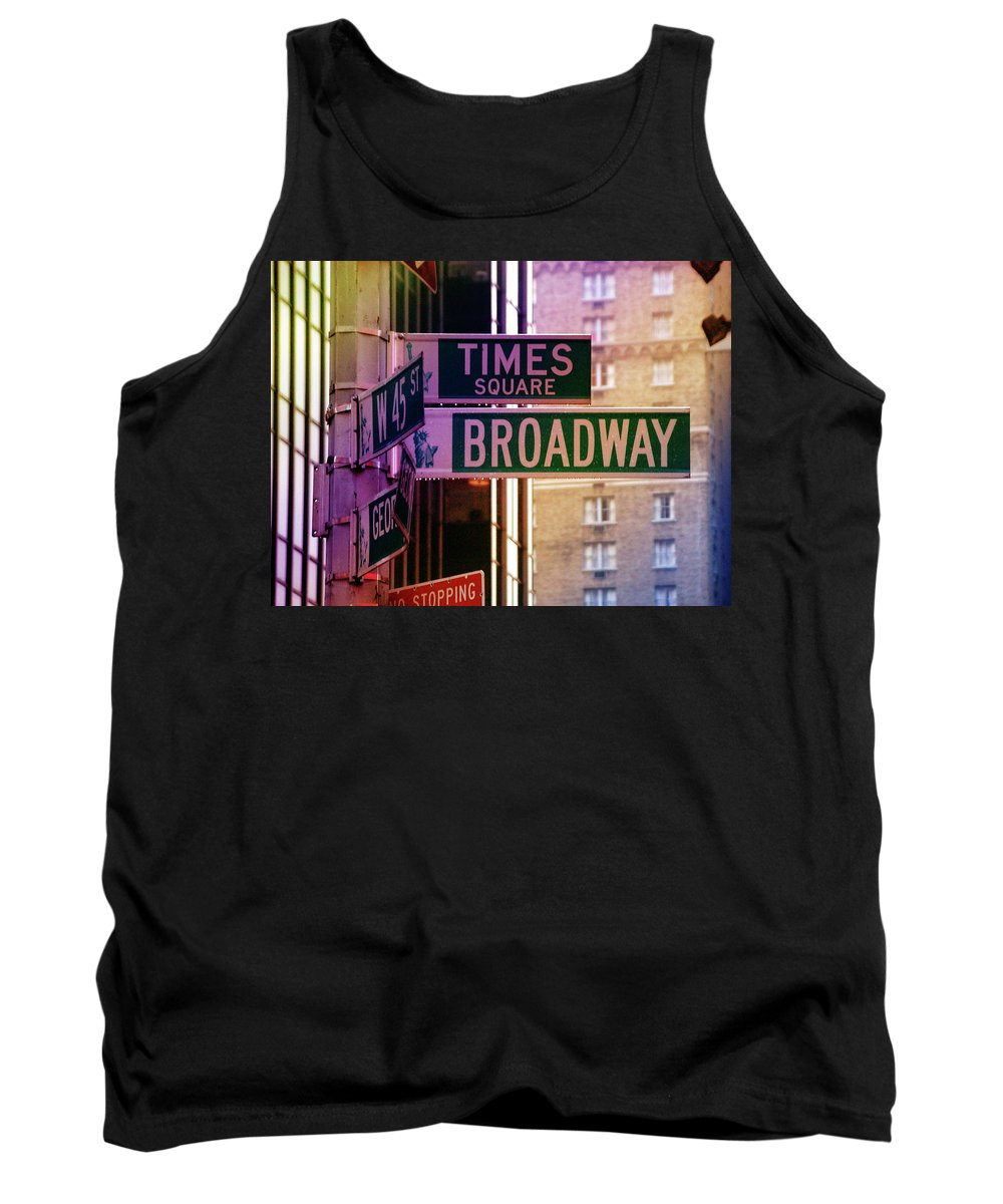 Times Tank Top featuring the photograph Times Square by William Arenas
