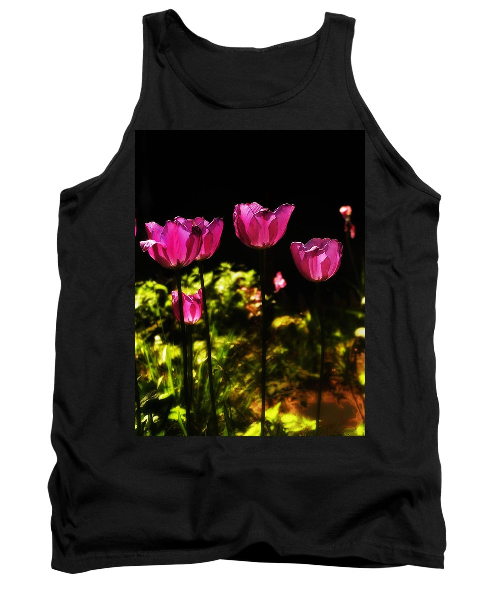 Tulips Tank Top featuring the photograph Tiptoe Through The Tulips by Bill Cannon