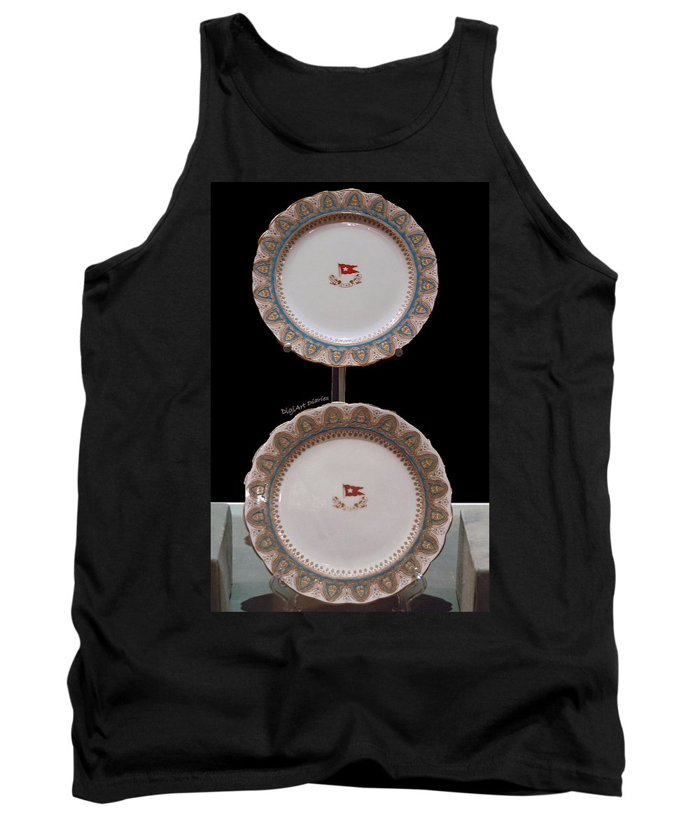 Titanic Tank Top featuring the digital art Titanic Makers Mark In China by DigiArt Diaries by Vicky B Fuller