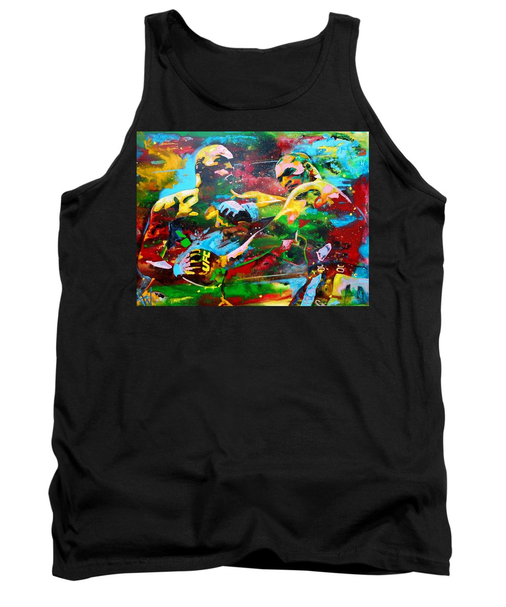Painting Tank Top featuring the painting Titans by Angie Wright