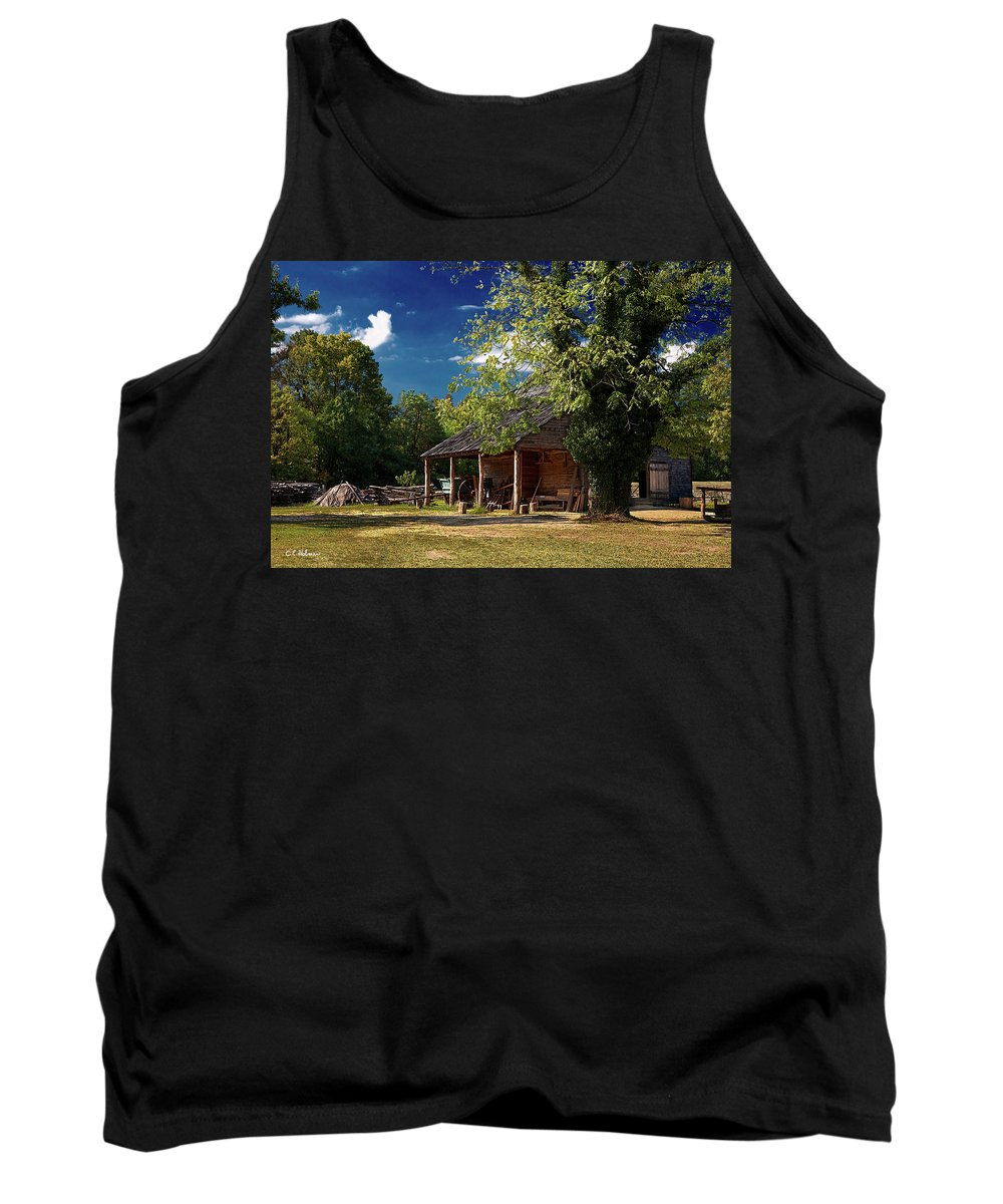 Barn Tank Top featuring the photograph Tobacco Barn by Christopher Holmes
