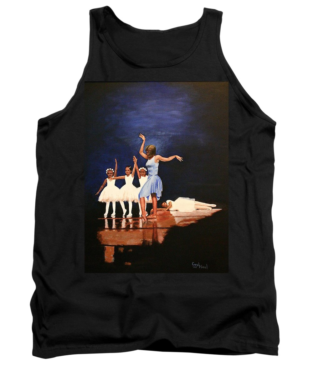 Human Subject Tank Top featuring the painting Toe Dancer by Carol Neal-Chicago