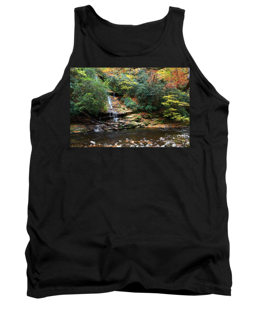 Tom Tank Top featuring the photograph Tom Branch Falls In Nc by Jill Lang