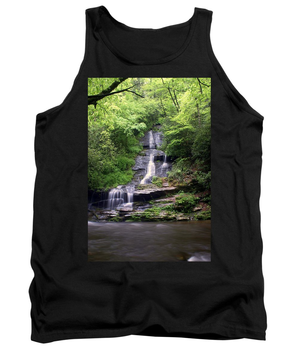 Waterfalls Tank Top featuring the photograph Tom Branch Falls by Marty Koch
