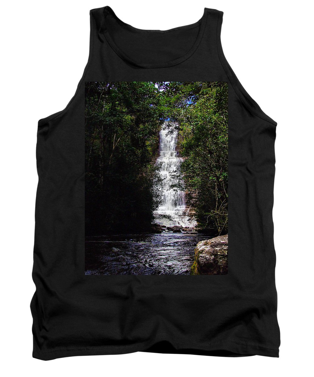 Waterfall Tank Top featuring the photograph Toron Falls by Galeria Trompiz