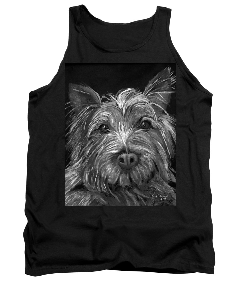 Dogs Tank Top featuring the painting Tosha The Highland Terrier by Portraits By NC