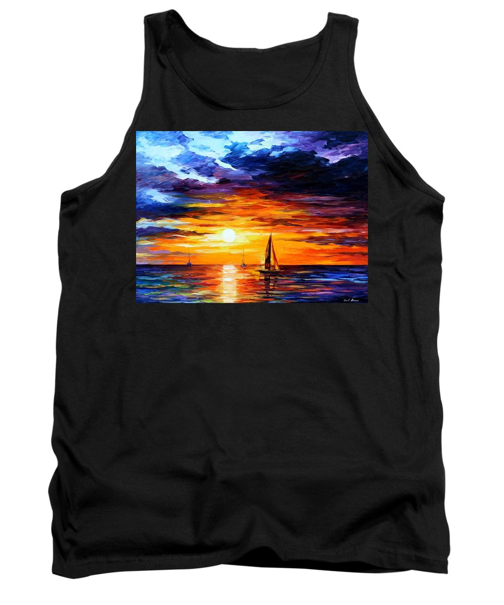 Afremov Tank Top featuring the painting Touch Of Horizon by Leonid Afremov