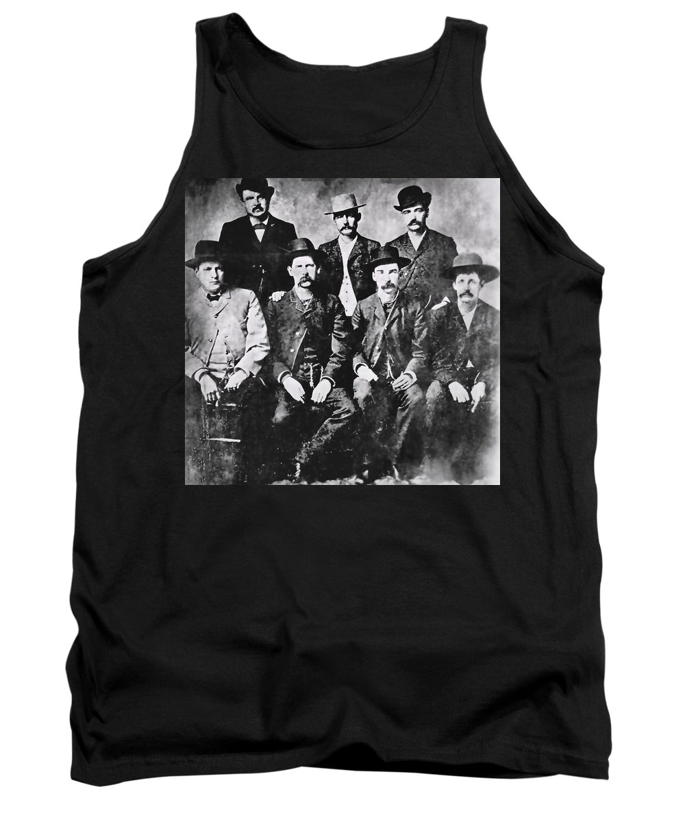 men Of The Old West Tank Top featuring the photograph Tough Men Of The Old West by Daniel Hagerman