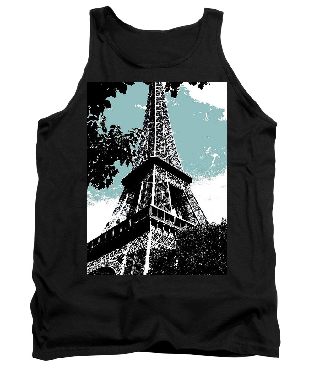 Europe Tank Top featuring the photograph Tour Eiffel by Juergen Weiss