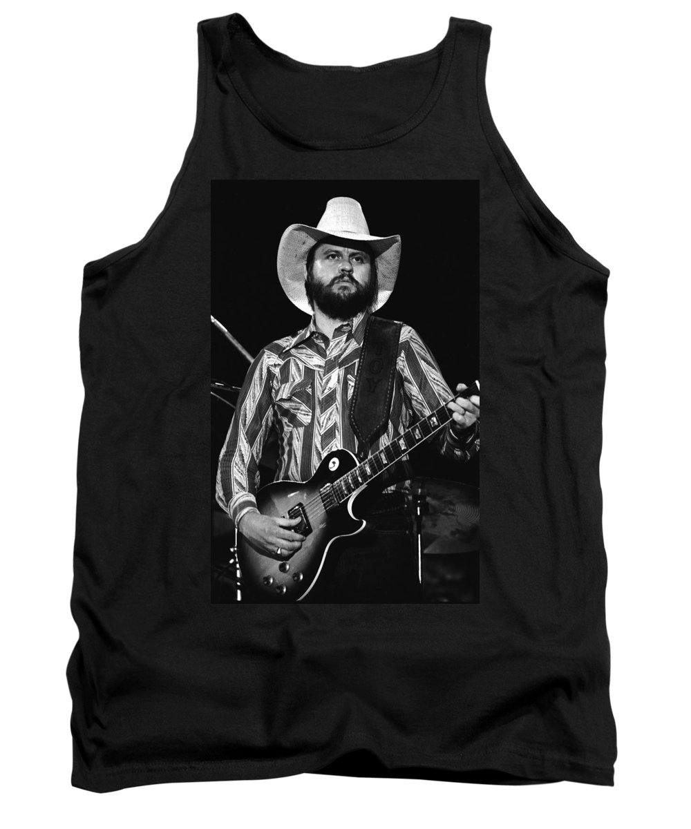 Marshall Tucker Band Tank Top featuring the photograph Toy Caldwell Live by Ben Upham