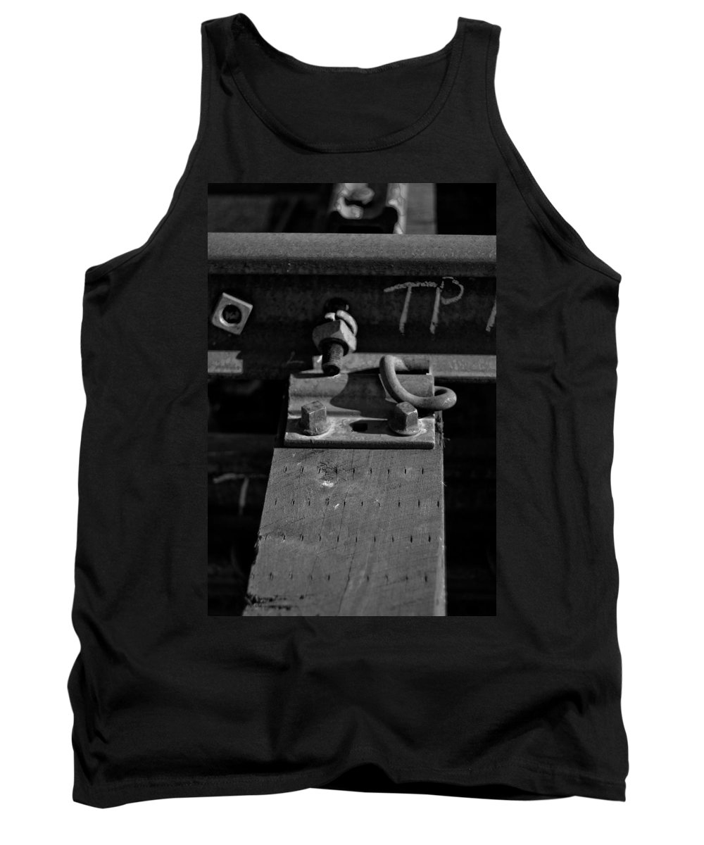 Black And White Photograph Tank Top featuring the photograph tp II by Mike Oistad