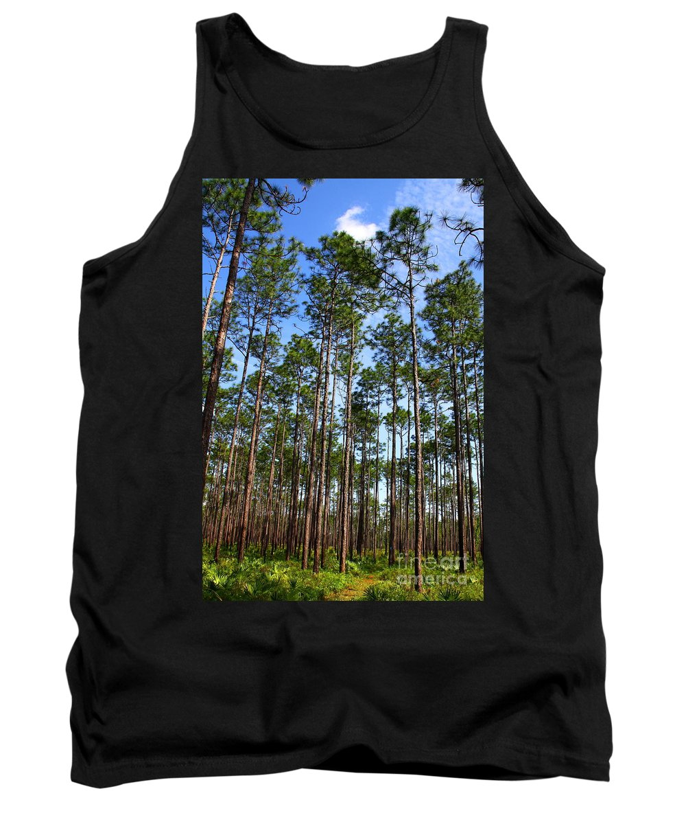 Wright Lake Loop Trail Tank Top featuring the photograph Trail Through The Pine Forest by Barbara Bowen