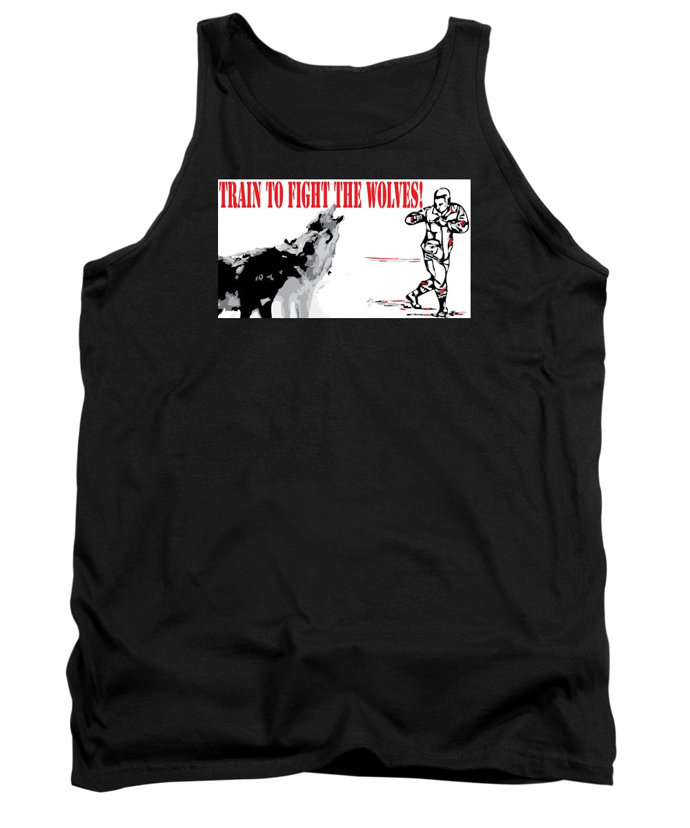 Train Tank Top featuring the digital art Train To Fight by Anthony Ruiz