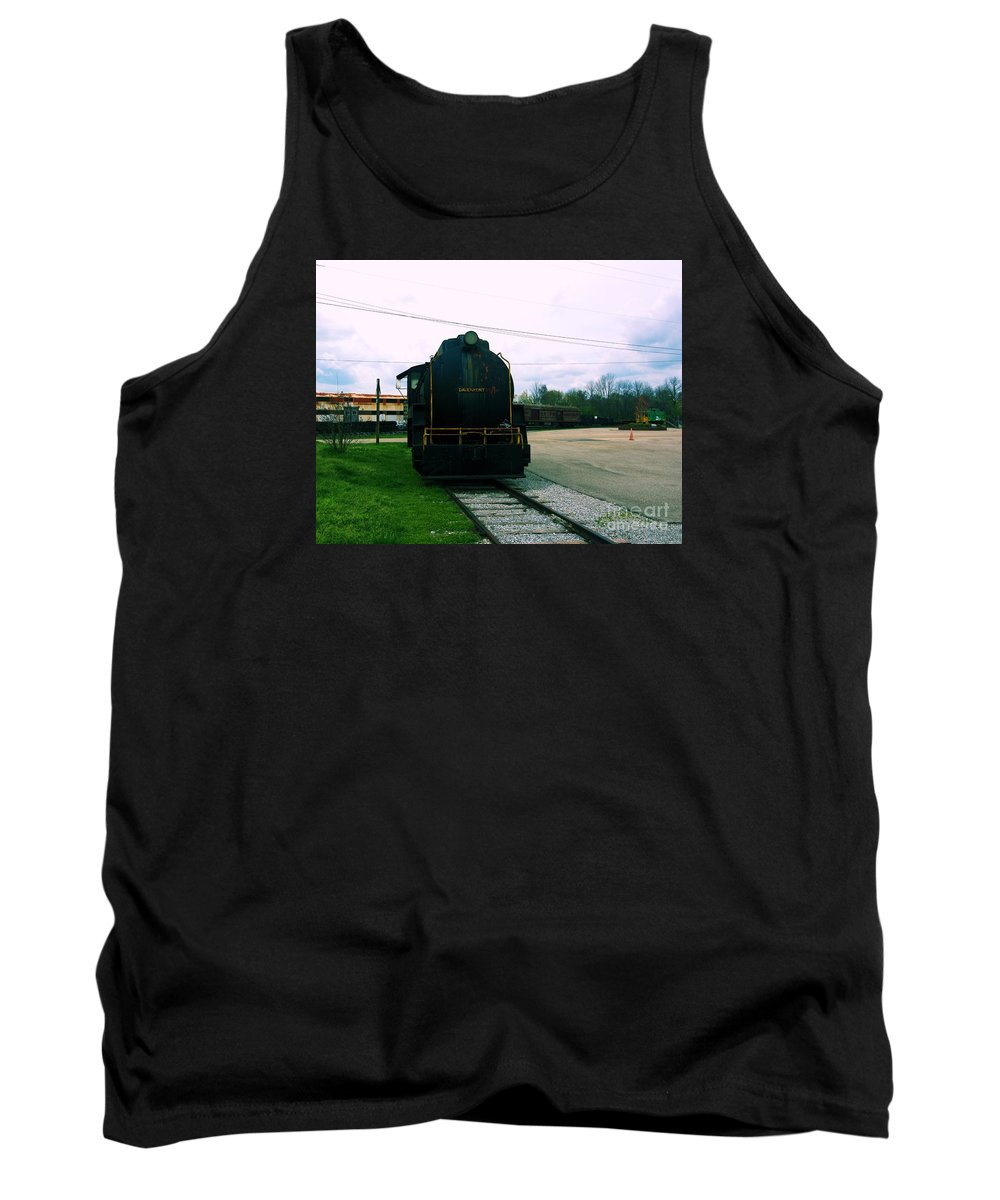 Train Tank Top featuring the photograph Trains 3 7 by Jay Mann