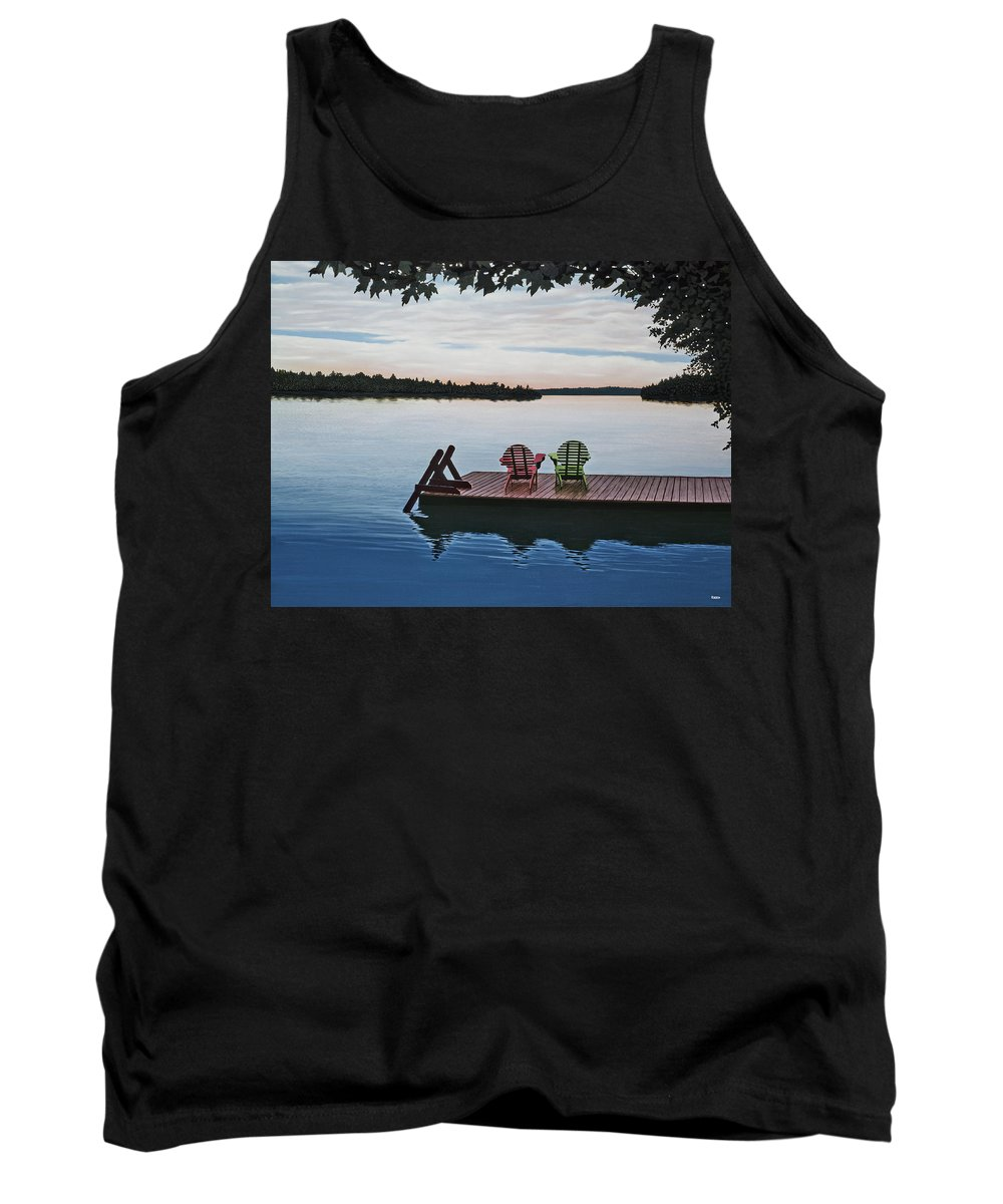 Landscapes Paintings Tank Top featuring the painting Tranquility by Kenneth M Kirsch