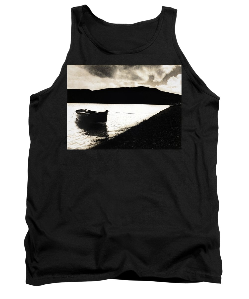 Monochrome Tank Top featuring the photograph Tranquility by Sergio Bondioni