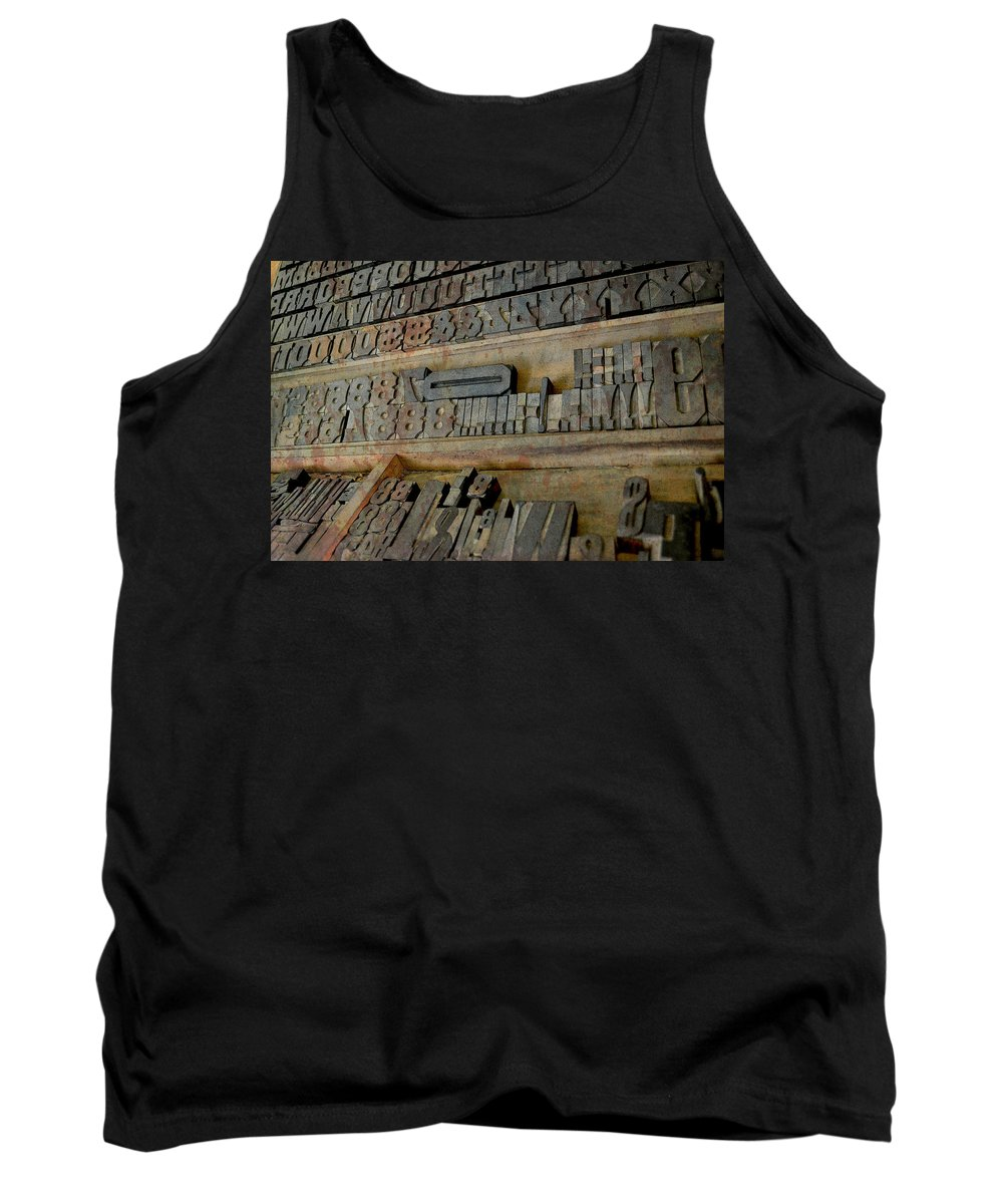 Type Tank Top featuring the photograph Transient Elements by Char Szabo-Perricelli