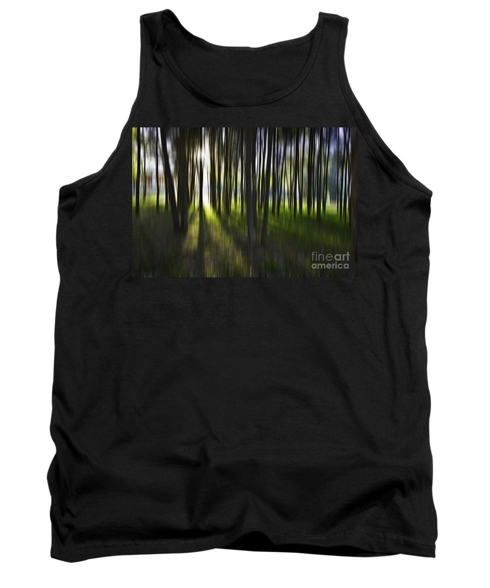 Trees Abstract Tree Lines Forest Wood Tank Top featuring the photograph Tree abstract by Sheila Smart Fine Art Photography